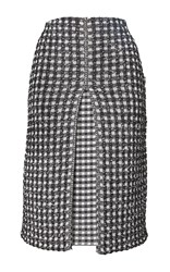 Sonia Rykiel Vichy Tweed Pleated Skirt Plaid