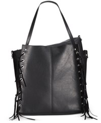 Inc International Concepts Venice Tote With Removable Pouch Only At Macy's Black