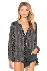 Amuse Society Spellbound Woven Top Black And White