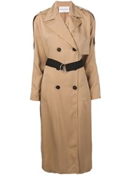 Sonia Rykiel Belted Trench Coat Neutrals