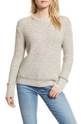 Ella Moss 'S Melange Open Back Sweater Fawn