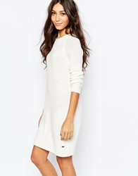 Esprit Knitted Jumper Dress Offwhite