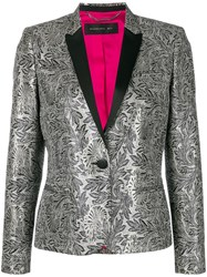 Barbara Bui Embroidered Fitted Blazer Grey