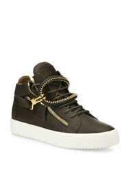 Giuseppe Zanotti Dual Studded Strap Leather Sneakers Caky