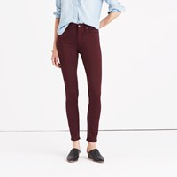 Madewell 9 High Rise Skinny Sateen Jeans