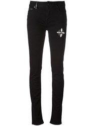 Marcelo Burlon County Of Milan Super Skinny Jeans Black