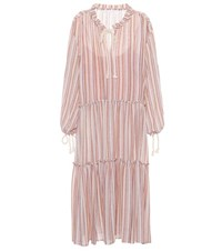 See By Chloe Striped Wool Blend Dress Multicoloured