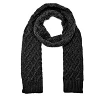 Michael Kors Men's Cable Knit Scarf Black