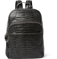 Santiago Gonzalez Crocodile Backpack Gray