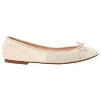 Mint Velvet Charli Snake Embossed Suede Pumps Neutral