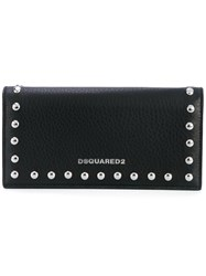 Dsquared2 Stud Trimmed Wallet Women Leather One Size Black