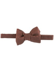 Tom Ford Arrows Pattern Bow Tie Red