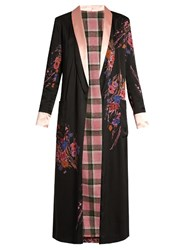 Etro Shawl Collar Sequin Embellished Reversible Coat Black Multi