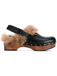 Gucci Amstel Kangaroo Fur Lined Clogs
