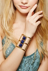 Forever 21 From St. Xavier Darcy Arm Cuff Gold Blue