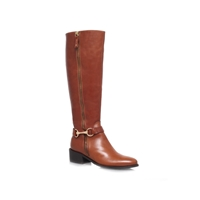 Carvela Waffle Leather Boot Tan