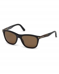 Tom Ford Andrew Square Shiny Acetate Sunglasses Black