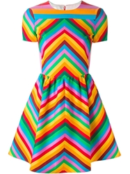 Valentino '1973' Chevron Striped Dress