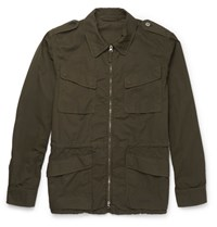 Aspesi Cotton Twill Field Jacket Army Green