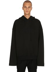 Juun.J Oversize Embroidered Jersey Sweatshirt Black