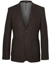 French Connection Men's Sheppard Shetland Blazer Brown