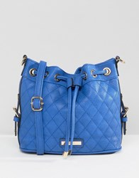 Dune Quilted Cross Body Bag Cobalt Blue