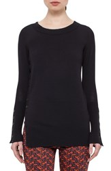 Women's Akris Punto Button Detail Wool Tunic Sweater
