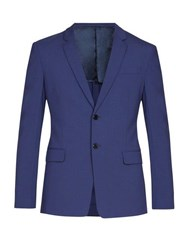 Prada Single Breasted Wool Blend Suit Light Blue