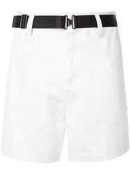 Emporio Armani Belted Deck Shorts White