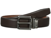 Cole Haan 32Mm Feather Edge Stitched Reversible With Harness Buckle Chocolate Men's Belts Brown