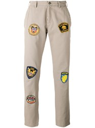 History Repeats Badge Patch Trousers Nude Neutrals