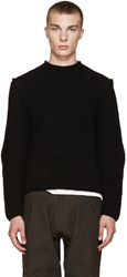 Isabel Benenato Black Heavy Knit Sweater