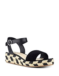 Nine West Allium Espadrille Wedge Sandals Black