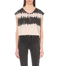 Allsaints Serpine Cotton Jersey T Shirt Quartz Pink