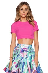 Aq Aq Evan Crop Top Pink