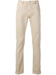 Pt05 Straight Leg Trousers Nude And Neutrals