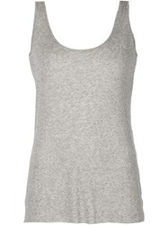 The Row Scoop Neck Tank Top Grey