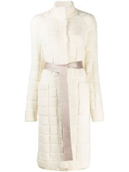 Missoni Quilted Knit Cardi Coat White