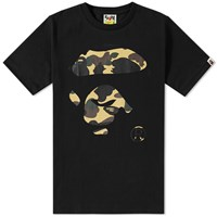A Bathing Ape 1St Camo Face Tee Black
