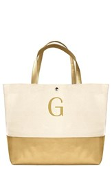 Cathy's Concepts Personalized Canvas Tote Metallic Gold G