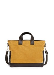 Meilleur Ami Paris 'Petit Ami' Suede And Leather Tote Bag Brown