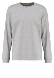 Carhartt Wip Chase Long Sleeved Top Grey Heather Gold Mottled Grey