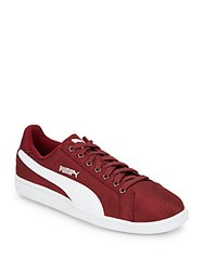 Puma Smash Canvas Sneakers Red