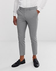 River Island Ultra Skinny Fit Cropped Smart Trouser In Black And White Pupstooth