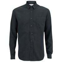 Our Legacy Men's Classic Long Sleeve Shirt Green Silk