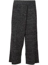 Thakoon Cropped Knit Trousers Grey