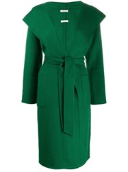 P.A.R.O.S.H. Fitted Hooded Coat Green