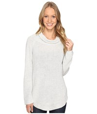 Fate Side Zip Cowl Neck Sweater Grey Women's Sweater Gray