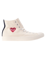 Comme Des Garcons Play Converse X Comme Des Gacons Play Sneakers Nude And Neutrals