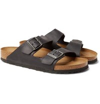 Birkenstock Arizona Oiled Leather Sandals Black